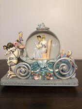 DISNEY Cinderella Musical Snowglobe Carriage Prince Charming 50th Anniversary
