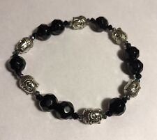 Black Beaded Buddha Unisex Fashion Jewelry Bracelet