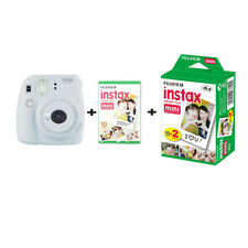 Fujifilm Instax Mini 9 Smoky White Instant Camera With Twin Pack 30 Shots Bundle