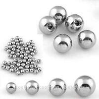 100x Silver Stainless Steel Ball Top Bead For Body Navel Nose Piercing Set