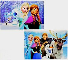2 x Disney Frozen Anna und Elsa 3-D Tischset Platzset Platzdeckchen Tischmatte