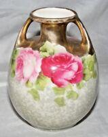 Antico o Vintage Semiramis Amphora 2 con Manici Vaso Rosa Decorazione