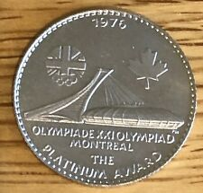 More details for 1976 the xxi olympiad montreal medallion in platinum 7.96g
