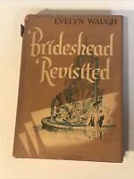 1945 Vtg Brideshead Revisited Evelyn Waugh First US Edition 1st Printing HCDJ NF