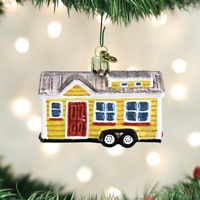 Tiny House Glass Ornament Old World Christmas NEW IN BOX