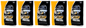 Bic Metal Bar Disposable Razor for Men, 50 Count