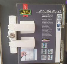 Fensterschloß Burg-Wächter WS22 W Fenstersicherung, Schloß weiß mit Doppelriegel