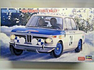 Hasegawa 1:24 Scale BMW 2002ti 1969 Monte Carlo Rally Timo Makinen Model Kit New