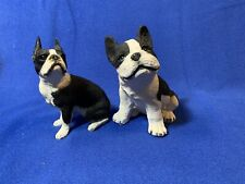 Boston Terrier Figurines Living Stone And Sandicast