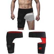 Black Adjustable Groin Brace Wrap Thigh Support Pain Relief Strain Neoprene Hip