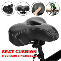 Dual-spring Bike Bicycle Wide Big Bum Soft Extra Comfort Saddle Seat Pad