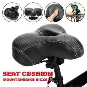 Soft Wide Seat PU Leather Vintage Bicycle Saddle Bike Parts Schwinn Road Spring