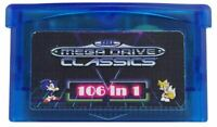 106 in 1 Multi Cart for Gameboy Advance GBA Master System Classics Games Cards