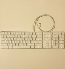 Apple Keyboard A1048 White USB Keyboard with 2 USB Ports. Cleaned and Tested!