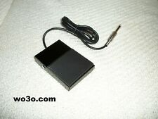 BLACK METAL HEAVY DUTY FOOT PTT SWITCH FOR HEAD SETS AND DESK MIC