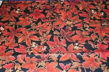 1 Yd Hoffman Bty Quilting Fabric Countryside Collection Burnt Red Leaves #Cc1