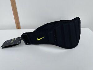 """Nike Black Unisex Weight Lifting Structured Training Belt Size Medium M 32-36"""""""