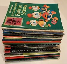 DELL GIANT 20 BK LOT Walt Disney,DONALD DUCK,Uncle Scrooge,MICKEY MOUSE Beach++1