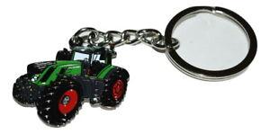 Tractor Keyring Gift Farming Green Enamel & Metal Keychain Fendt 939 shape