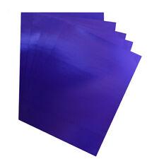 Hygloss Blue Metallic Foil Board Sheets, 8.5 x 11-Inch, Shiny, 25-Sheets