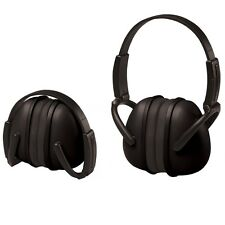 ERB Folding Ear Muffs, NRR 23 Hearing Protection, Black, 14241