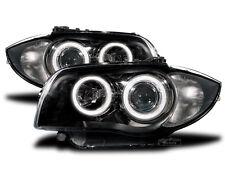 BMW 1er E81/E82/E87/E88 Scheinwerfer schwarz mit LED Standlicht Ringen.E.Nummer