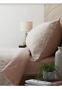 Cozee Home Textured Zebra Print Fleece 4 Piece Double Size Duvet Set
