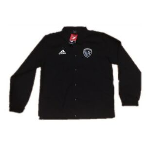 NEW NWT Sporting KC Adidas Men's Button Jacket Medium
