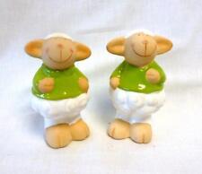 Gilde 20098 Schaf Schäfchen Paar Keramik Ostern Figur Tier Deko Dekoration weiß