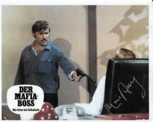 MARIO ADORF - Der Mafiaboss, The Holcroft Covenant, Fedora etc Signed 8 x 10
