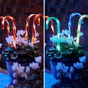 4/8 Pack Christmas Candy Cane Pathway Lights LED Outdoor Garden Decorations