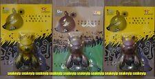 "Toy2R 2.5""Qee keychain Touma Lightning Bolt Volcano Knuckle Bear Elementaler 3pc"