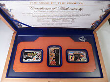 2012 Cook Islands 3*1 Dollars Year of the Dragon 3*20g Silver Coins Set BOX COA