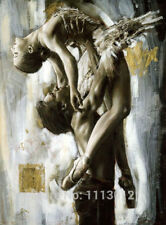 ZOPT27 huge 100% Hand Painted Ballet Dancer lover Oil Painting art On Canvas