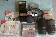 Canon AE-1 35mm Camera Bundle nice one original + xra lens & flash