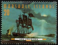 USS LOUISIANA (War of 1812) Sloop US Navy Warship Stamp (1997)