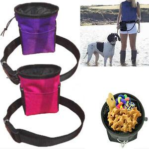 Pet Dog Snack Bag Waist Belt Treat Food Storage Outdoor Training Puppy Pouches