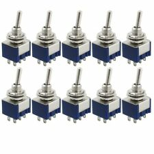 10 Pcs AC 125V 6A Amps ON/ON 2 Position DPDT Toggle Switch BT