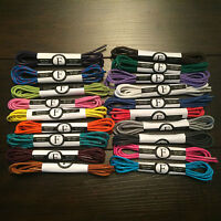 5 Pairs of Round Waxed Oxford Dress Shoe Laces - Choose from 20 colors