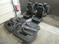 Orig. Audi A6 4F Asientos de Cuero Deportivos Memoria Negro Calefacción F