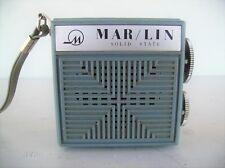 MARLIN MINI VINTAGE TRANSISTOR RADIO 1960'S OR 70'S ? RARE FIND