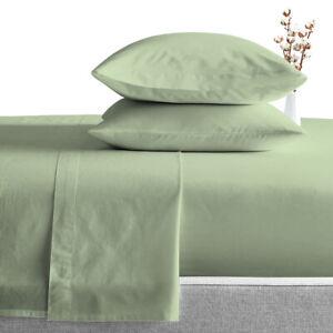 "600 TC 100% Egyptian Cotton Soft Bedding Sheet Set Solid 15"" Inch Deep Pocket"