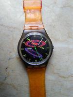 """orologio swatch STANDARD GENT modello """"SILVER PLANET"""" GM 112 anno 1993 USATO"""