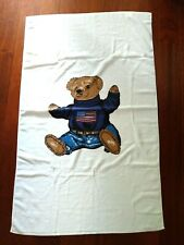 Ralph Lauren Polo Bear Large Bath Beach Towel Designer NEW Unused White