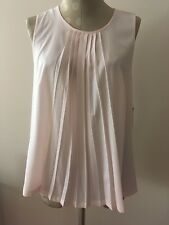 Nwt French Connection Blush Pleated Top M