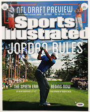 PSA/DNA Masters Champ JORDAN SPIETH Signed Autographed SPORTS ILLUSTRATED Photo