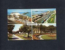Postcard - Multiviews of Worthing, Sussex, postmark 1973