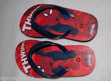 Trustful Boys-large- -marvel-spiderman-slip-on-molded-clog-sandals-lightweight-black 2-3