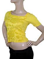 daniela drei t shirt maglia donna giallo made in italy taglia it 42 m medium