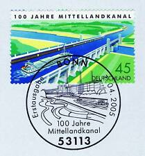 BRD 2005: Mittellandkanal Nr. 2454 mit Bonner Ersttags-Sonderstempel! 1A! 153